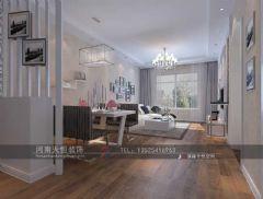 洛阳双溪布洛 美仑美家 天恒装饰施工现代风格二居室