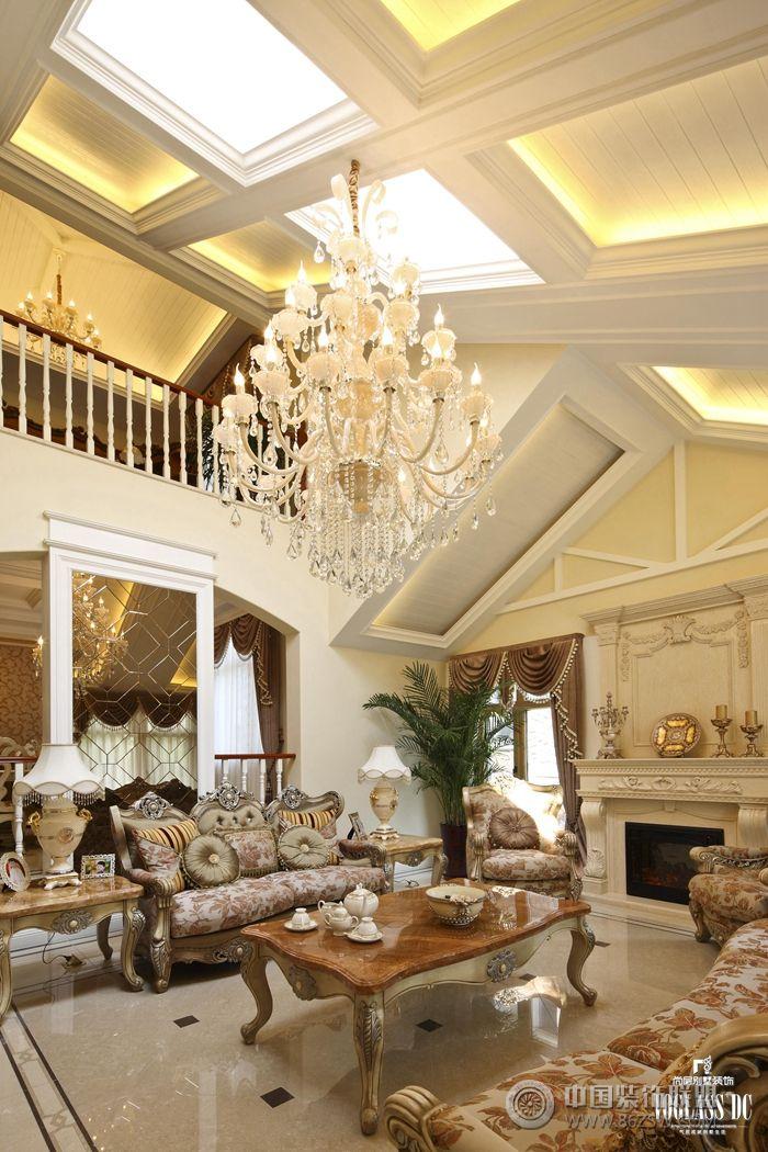 欧式豪宅的定义就是如此大气欧式客厅装修图片