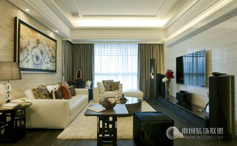 后现代两室一厅装修图 客厅装修图片