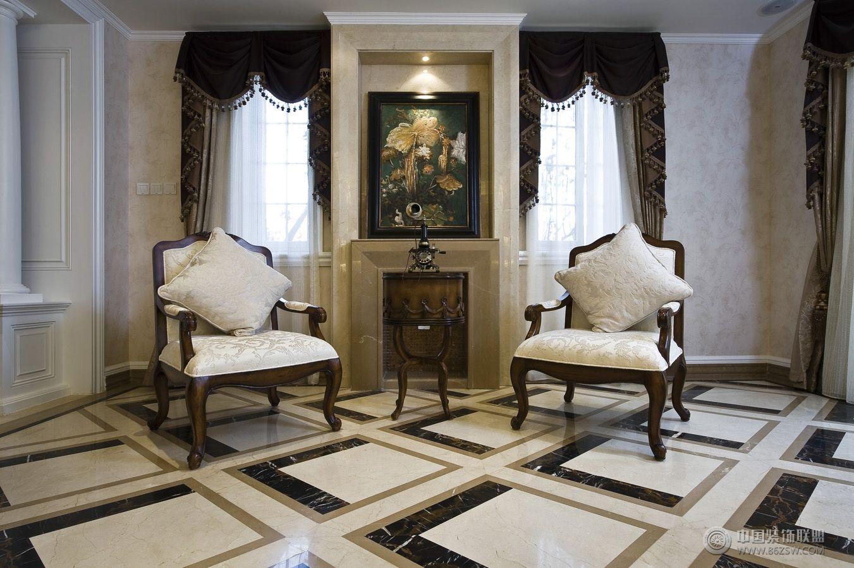 欧式风格复式楼房家装设计效果图