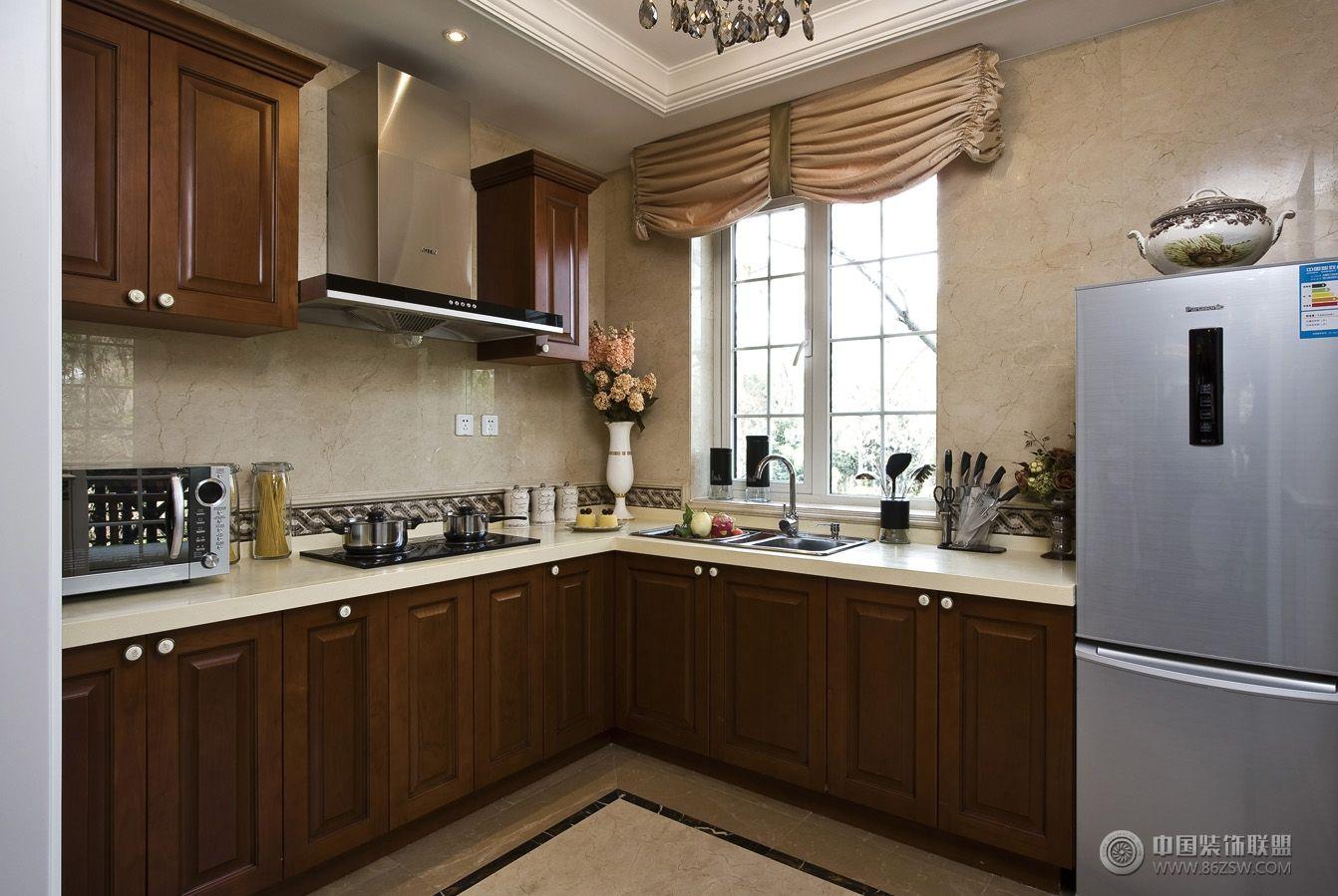 欧式风格复式楼房家装设计效果图欧式厨房装修图片