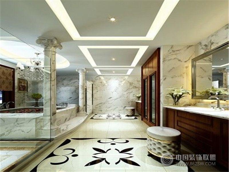 成都尚层装饰别墅装修欧式风格效果图(十三)-卫生间装修图片