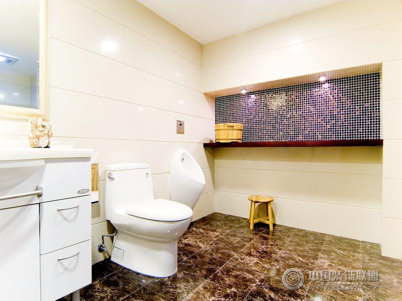 美式风格的豪华别墅设计图-卫生间装修效果图-八六网