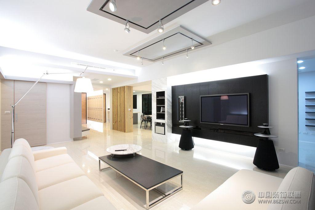 简约风格四居室装修图 客厅装修效果图高清图片
