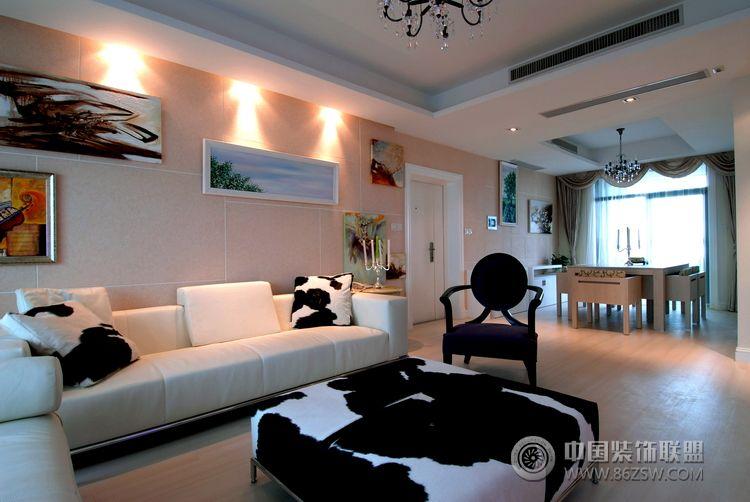 现代创意风格两室三厅-现代风格装修效果图-八六装饰