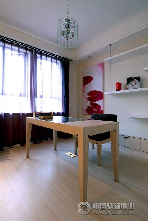 现代创意风格两室三厅现代书房装修图片