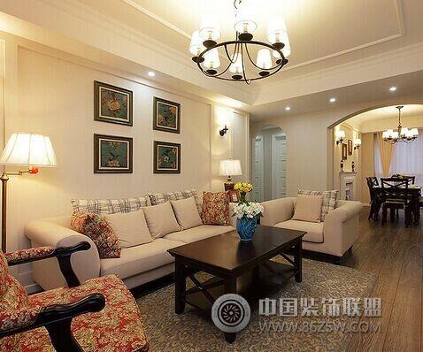 现代简约风格两室两厅客厅装修图片