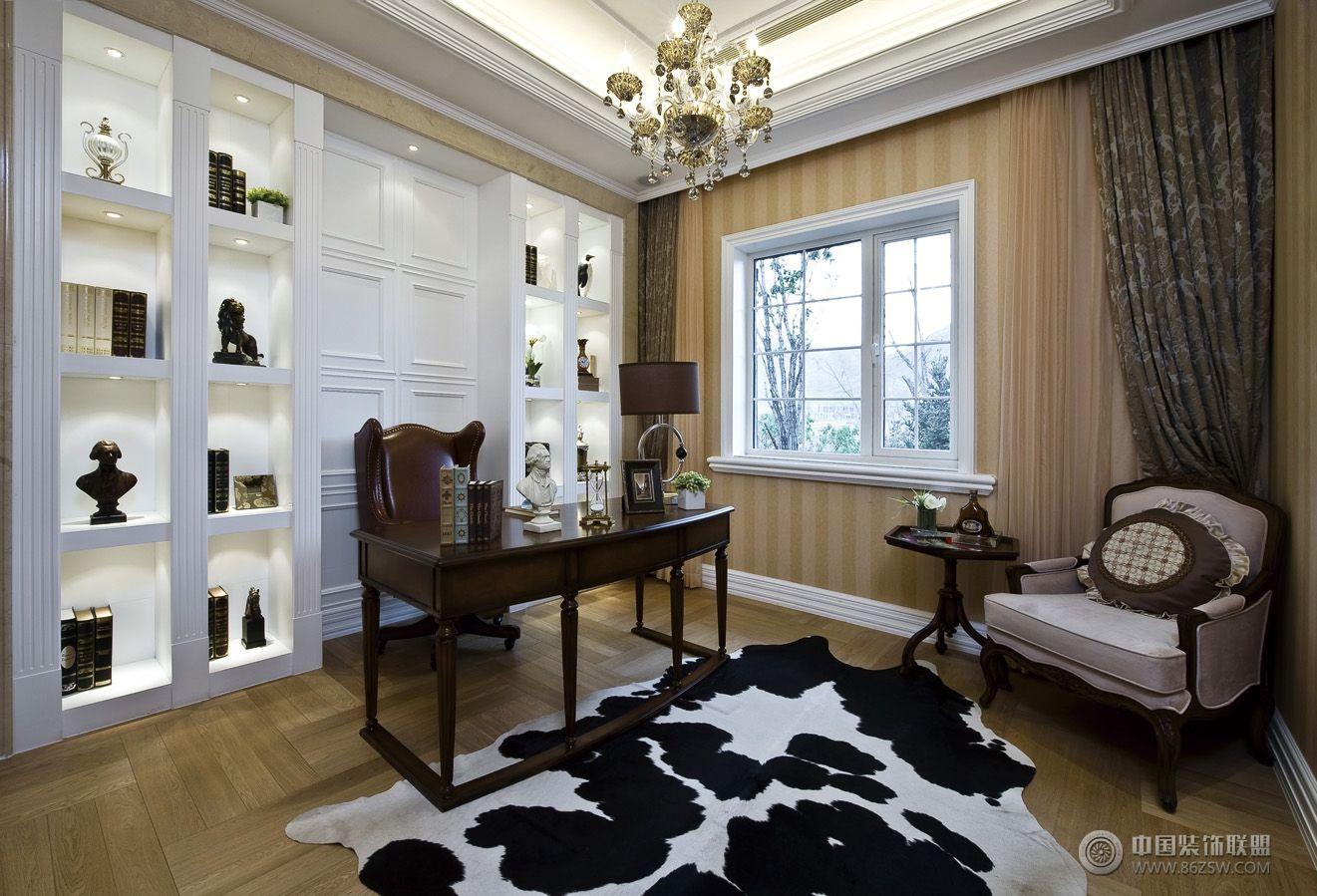 欧式风格复式楼房-书房装修效果图-八六(中国)装饰