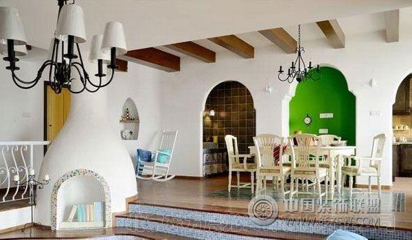 别墅中式装潢设计-客厅装修图片