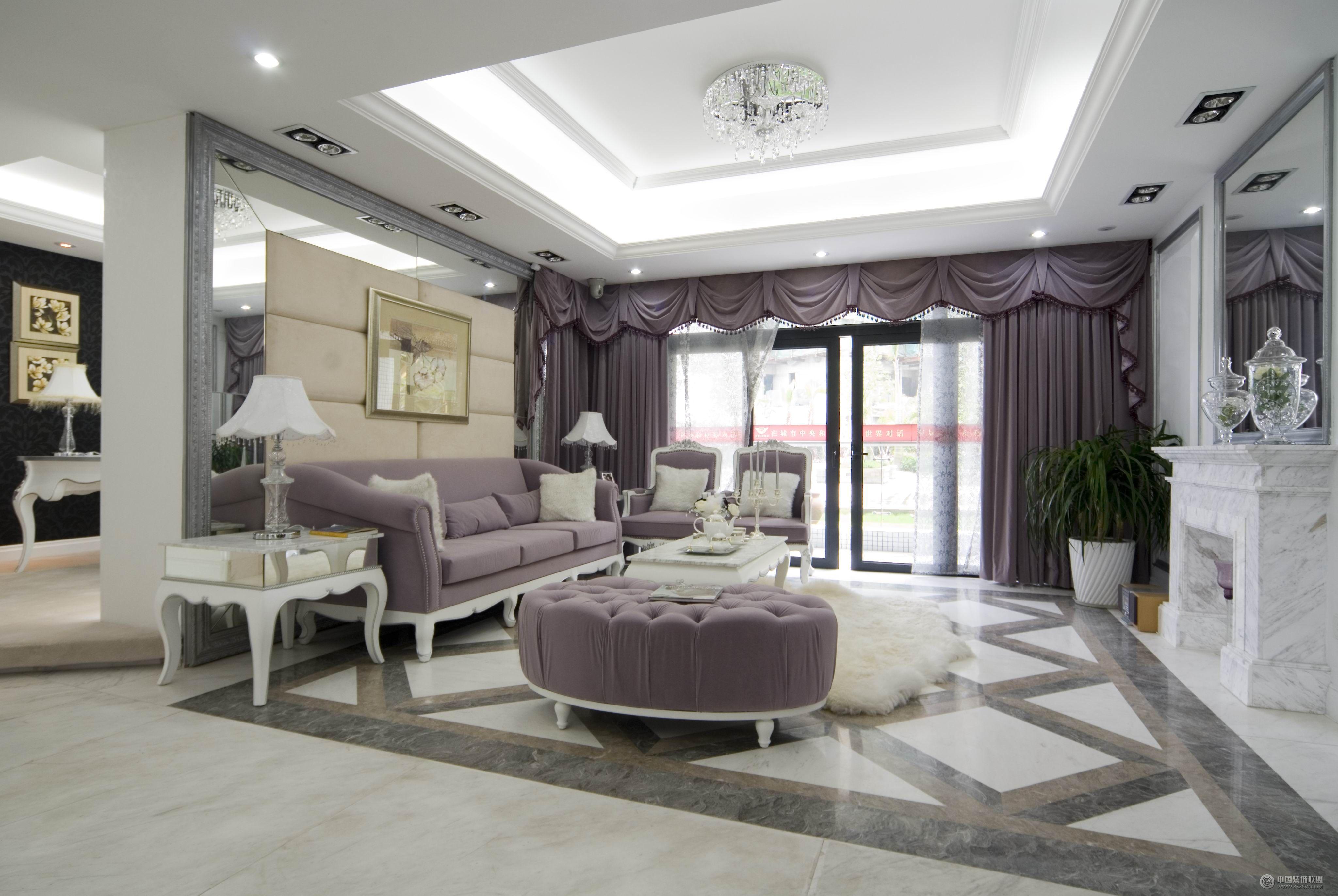 欧式格调-客厅装修效果图-八六(中国)装饰联盟装修