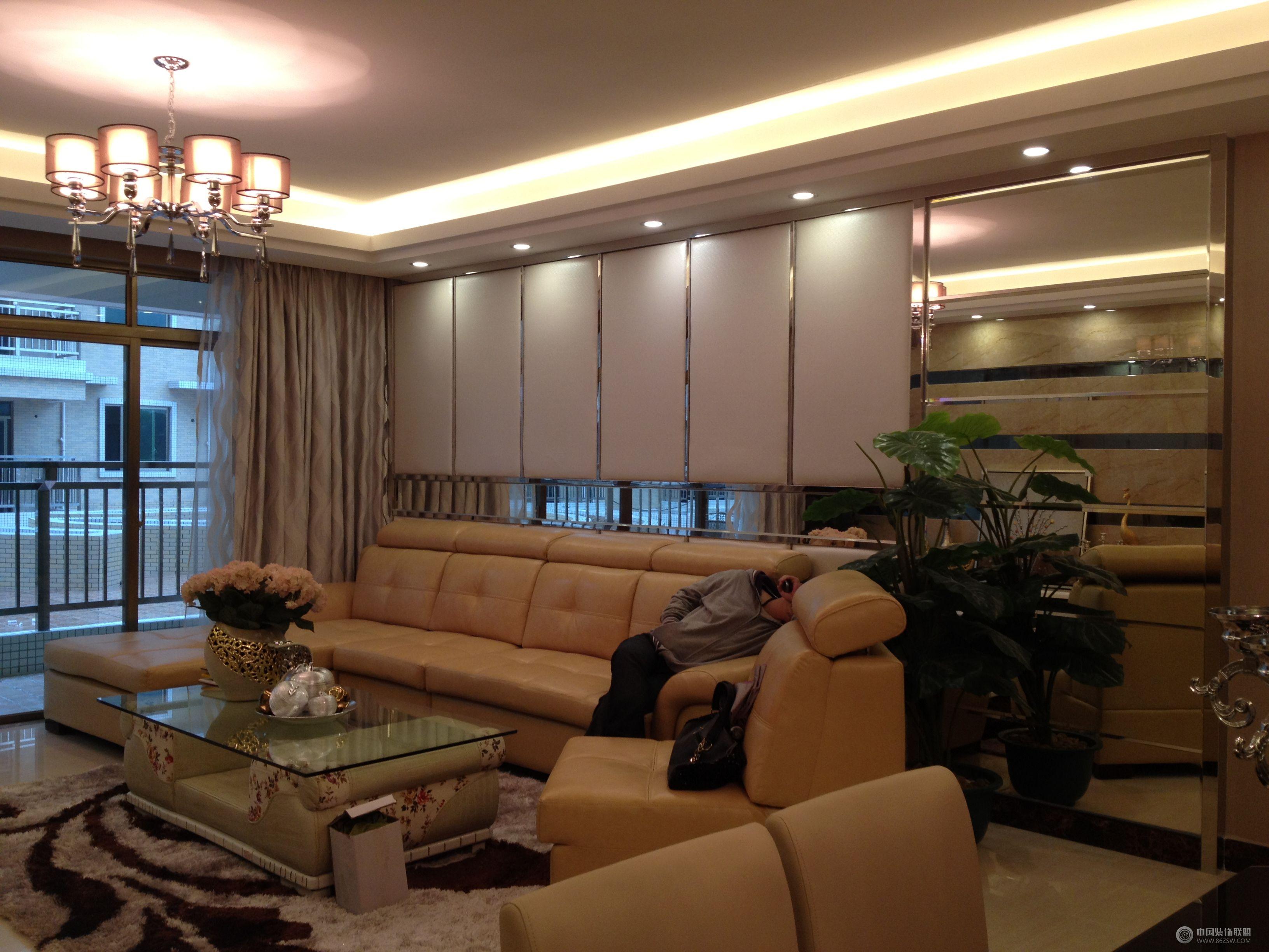 现代简约风格-客厅装修效果图-八六(中国)装饰联盟