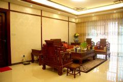 中式风格三居室玄关效果图