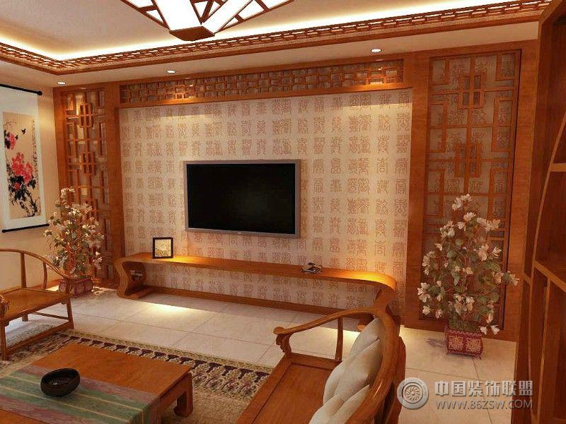 中式风格客厅隔断效果图 餐厅装修图片