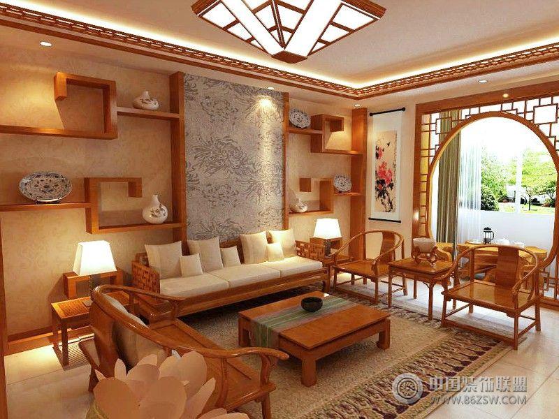 中式风格客厅隔断效果图 餐厅装修效果图 -中式风格客厅隔断效果图