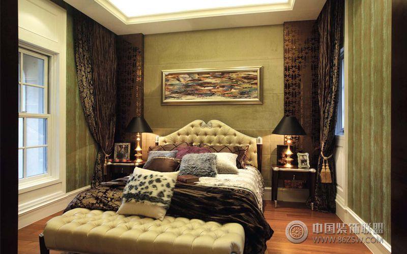 时尚混搭风格别墅-卧室装修效果图-八六(中国)装饰
