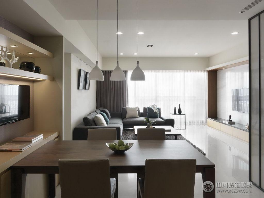 现代风格小户型-客厅装修效果图-八六装饰网装修效