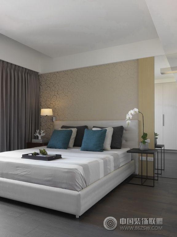 现代风格小户型-卧室装修图片