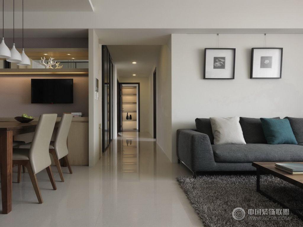 现代风格小户型 客厅装修图片