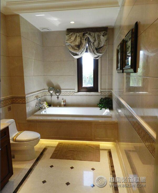 欧美风情130平三室两厅装修图欧式卫生间装修图片