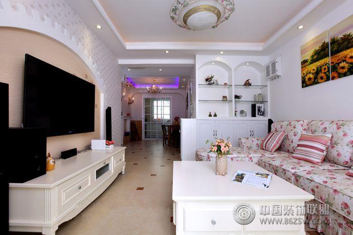 美式小清新-客厅装修效果图-八六(中国)装饰联盟装修