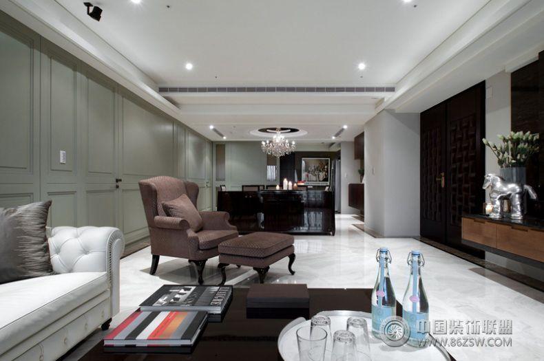 后现代风格两室两厅装修图客厅装修图片