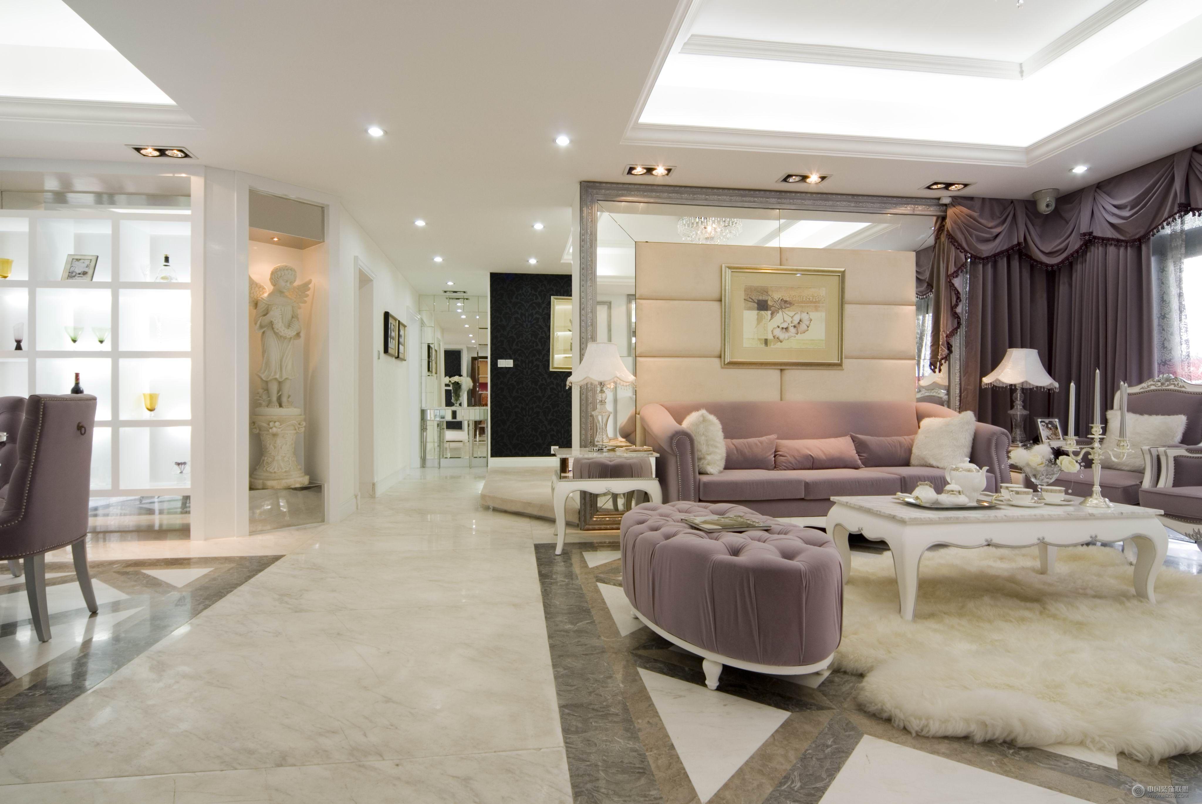 欧式四室两厅家装图欧式客厅装修图片