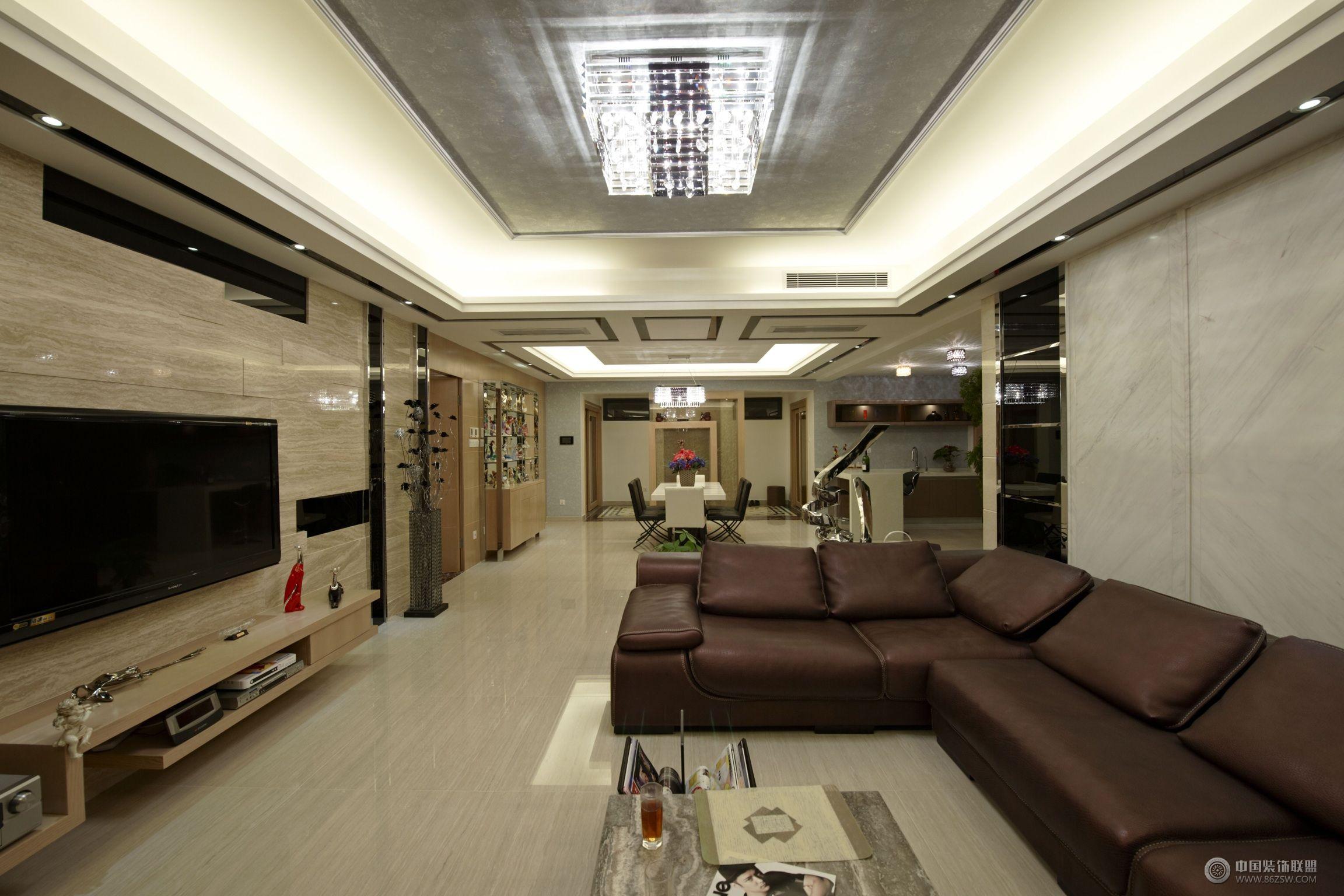 两室两厅装修图 客厅装修图片   两室两厅90平装修图 六万省
