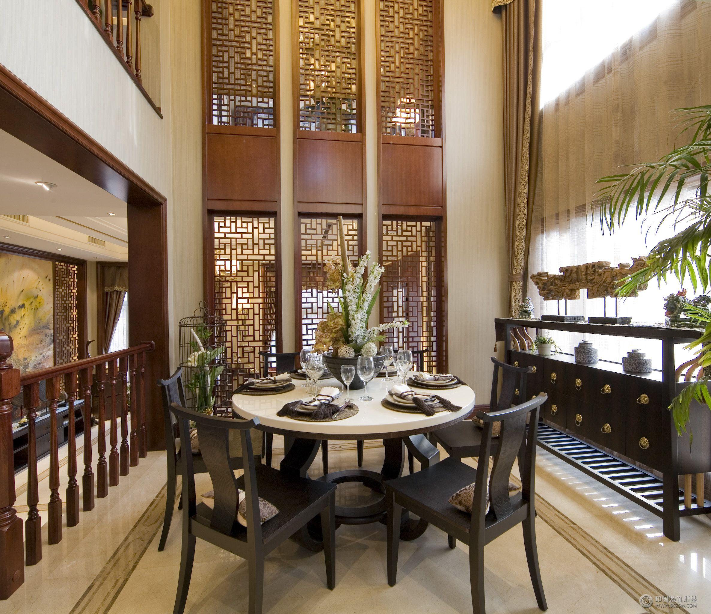 中式风格豪华复式设计效果图 餐厅 装修 效果图 八六网