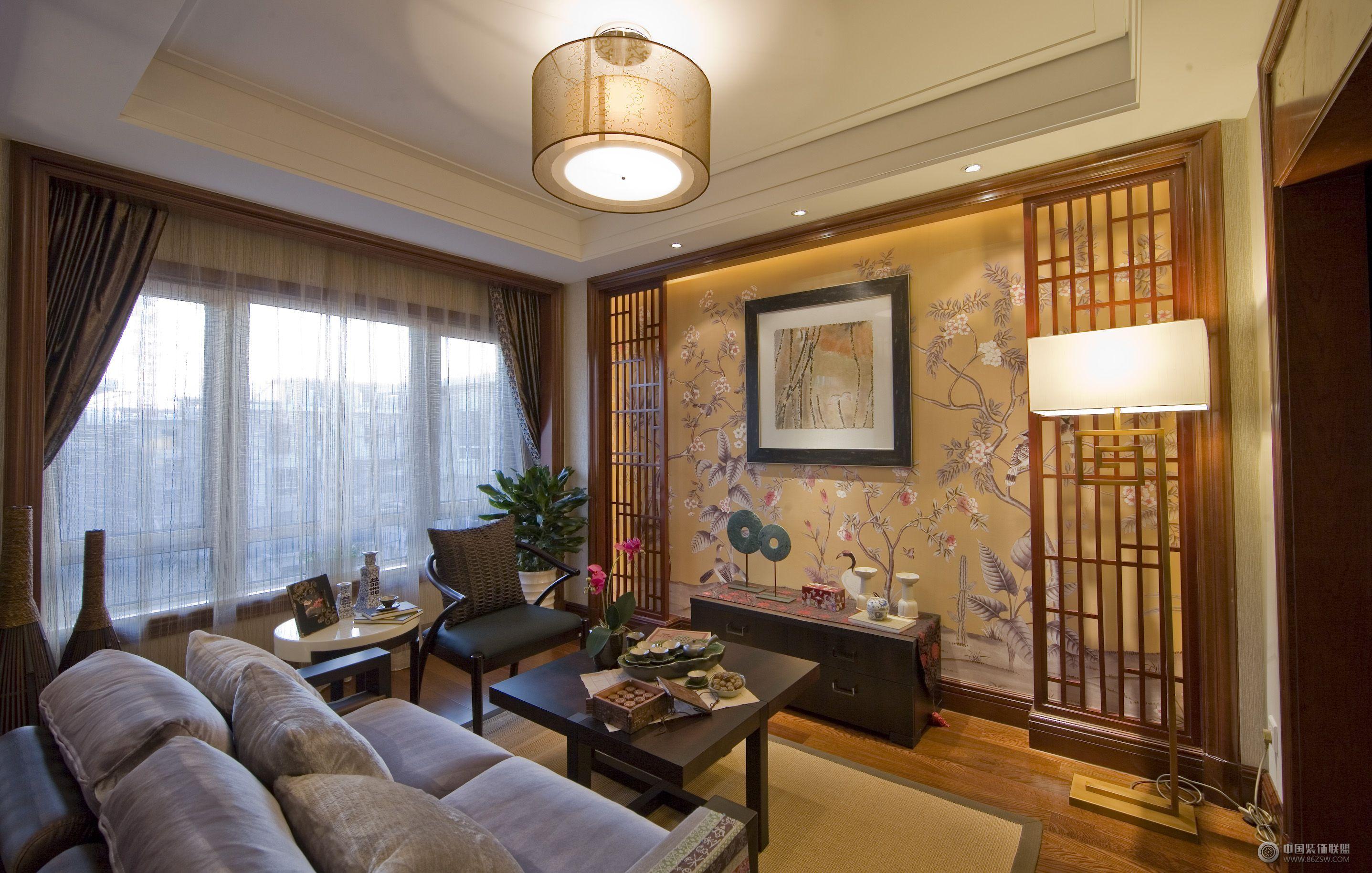中式风格豪华复式设计效果图 餐厅装修图片