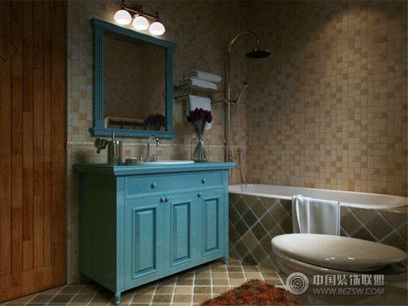 成都尚层装饰别墅装修地中海风格效果图 卫生间装修