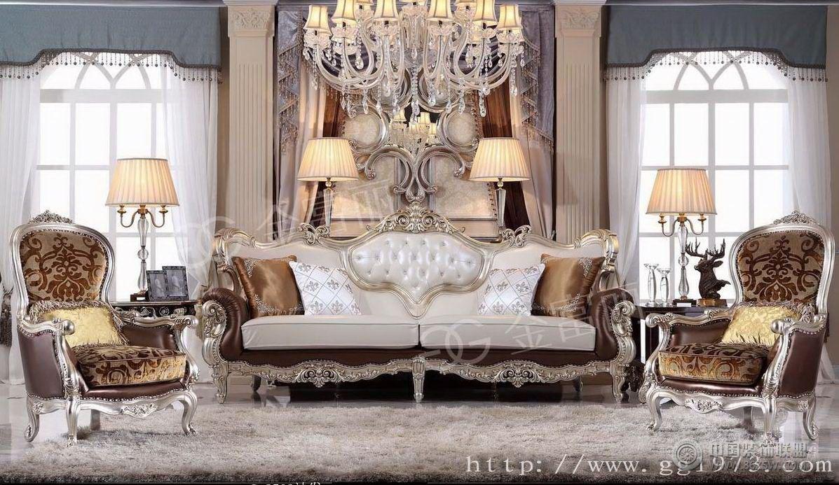 供应金富丽古典家具古典客厅装修图片