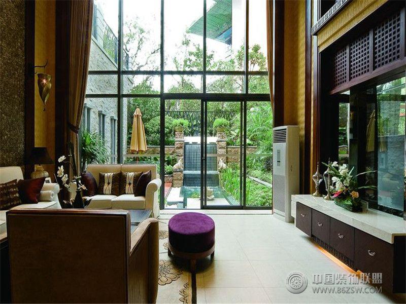 成都尚層裝飾別墅裝修泰式風格案例效果圖