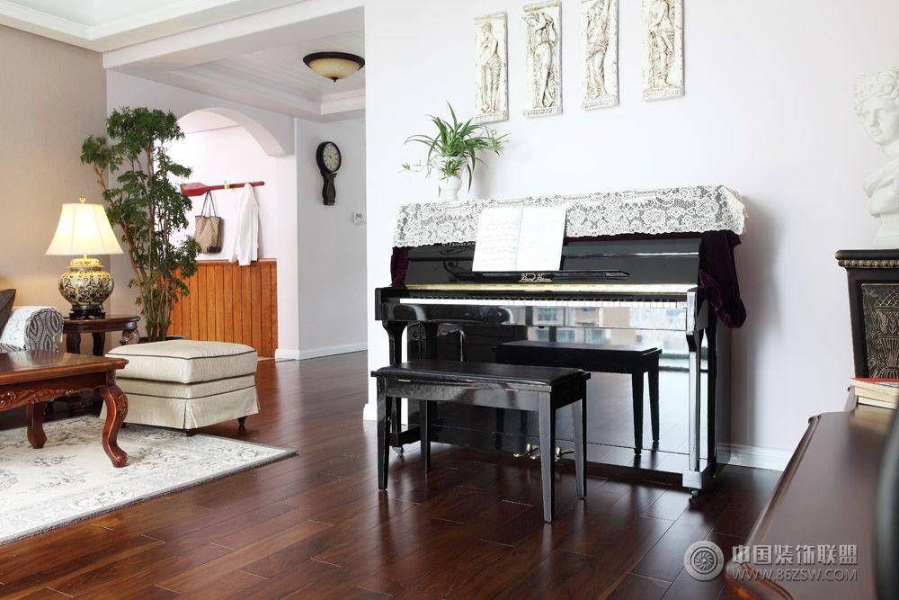 现代美式二居室 过道装修效果图 -现代美式二居室 过道装修图片