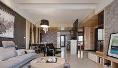 简约仿古风格100平米二居室装修图