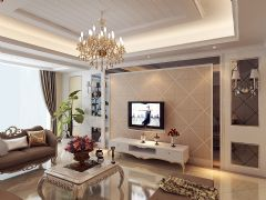 现代简欧欧式风格三居室