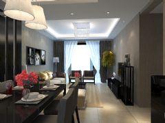 黑白现代现代风格二居室