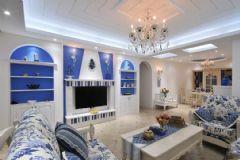 地中海海蓝地中海风格二居室
