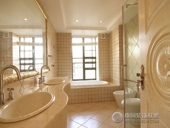 欧式风格两室两厅欧式卫生间装修图片