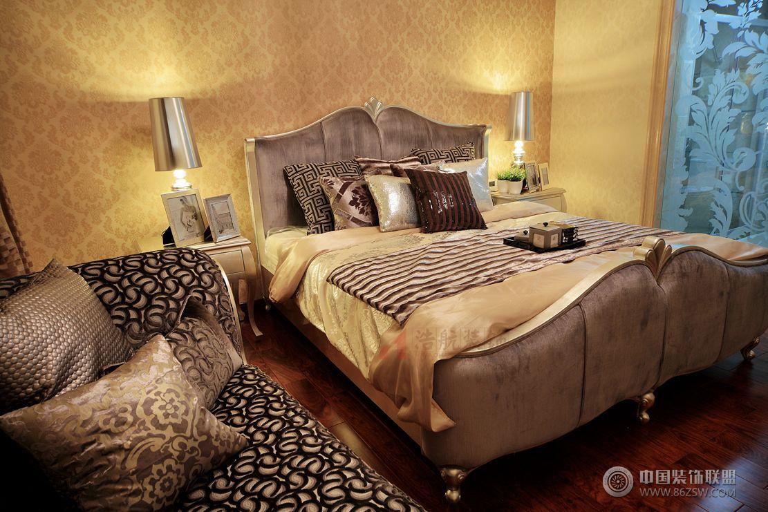 奢华欧式110平二居室装修图-儿童房装修效果图-八六