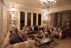 奢华欧式110平二居室装修图
