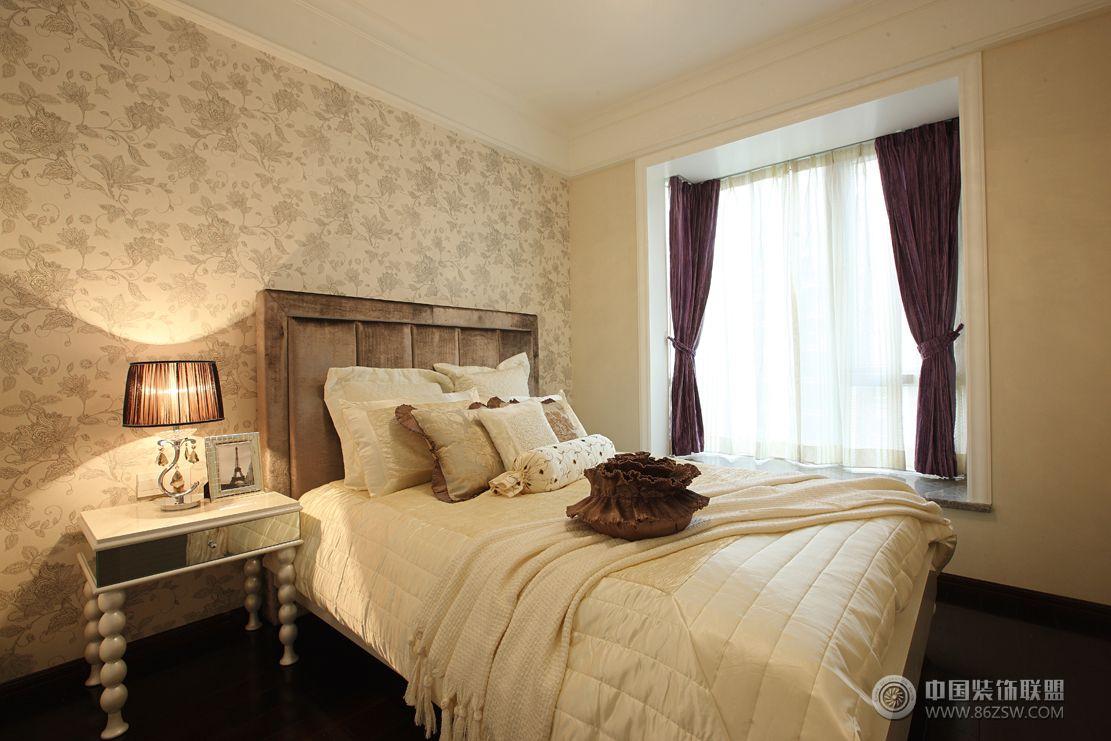現代歐式風格三居室裝修效果圖歐式臥室裝修圖片