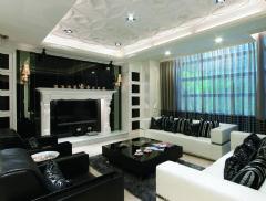 后现代120平米三居室装修图