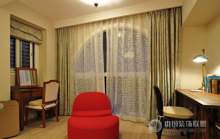 美式风格两室两厅装修图过道装修图片