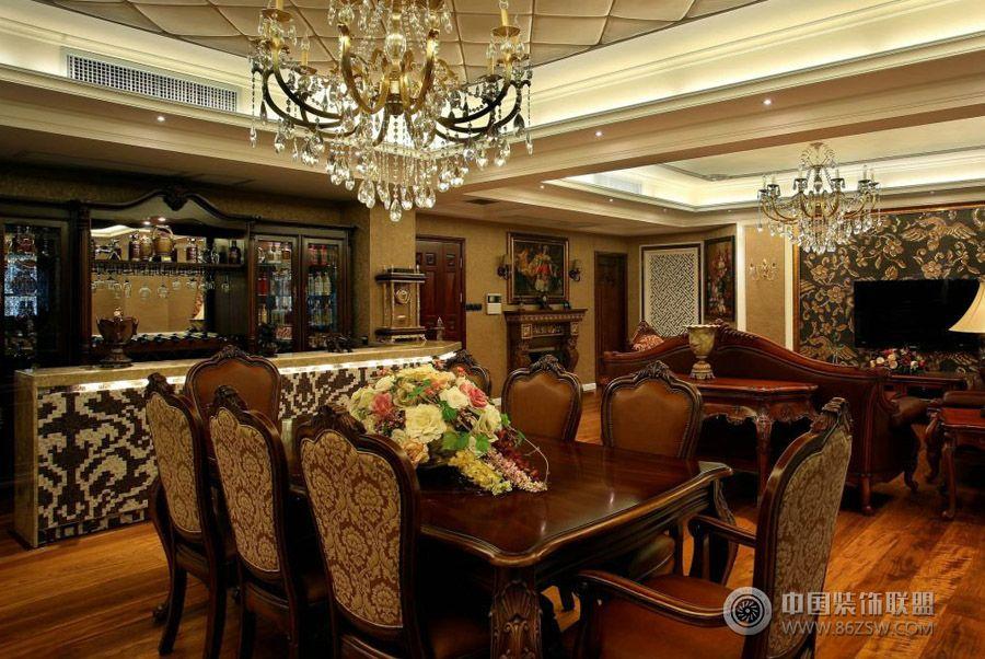 奢华复古欧式客厅装修图片