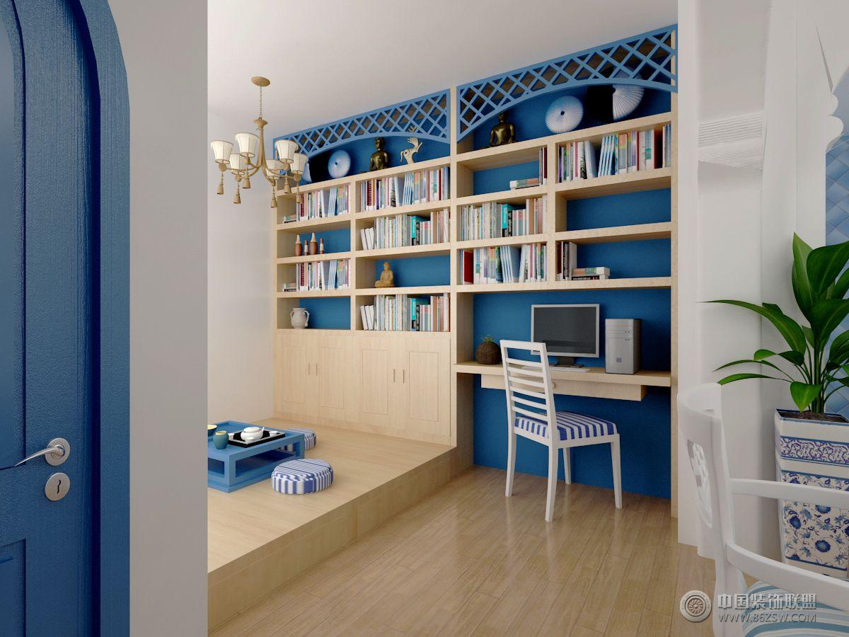 地中海风格家装地中海书房装修图片