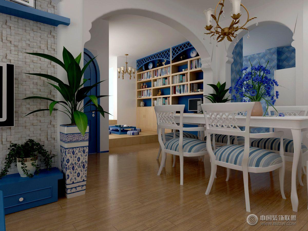 地中海风格家装地中海风格餐厅装修效果图