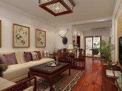 中式风格二居室装修图