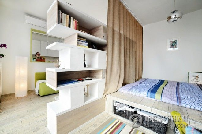 混搭风格40平米小公寓-卧室装修图片
