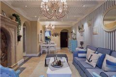 地中海装修风格二居室效果图