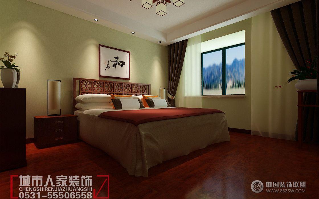 颐馨苑中式卧室装修图片